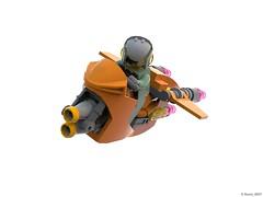 08 RETRO SPACE HERO'S SPACESHIP - Spacebike Perspective (Nuno_0937) Tags: lego ideas classic space spaceship ship moc retro hero minifigure