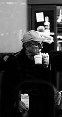 Coffee at airport (KeepWatching) Tags: airport coffee break delay man traveller