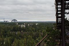 Pripyat25 (Nikon Yves) Tags: chernobyl pripyat exclusion zone rooftop view abandoned new safe confinement urbex apartment block