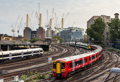 Commuter trains outside London Victoria (Joe Dunckley) Tags: battersea batterseapowerstation britain british cityofwestminster class387 electrostar england english gatwickexpress greatbritain grosvenorbridge london nineelms pimlico southeasternrailway southlondon southeastern southernrailway southerntrains uk unitedkingdom wandsworth westminster apartmentbuilding architecture bridge building chimney city commutertrain construction crane cranes depot derelict electricmultipleunit industrial passengertrain powerstation railway regeneration shed towercrane towercranes train transport transportation urbanrenewal