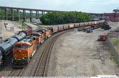 BNSF7240_9178_7853GB_KansasCityMO_250718 (Catcliffe Demon) Tags: bnsf railways railroading burlingtonnorthernsantafe usa usatrip11jul2018 ge generalelectric gevo es44dc sd70ace unitgrain missouri