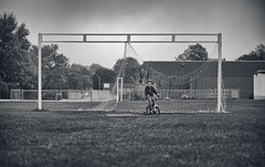 Not Football (VanveenJF) Tags: gs3 sony 85mm football soccer bw white black canada ontario a7ll field family
