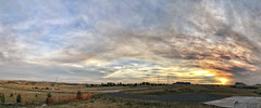 Ryan Forest Fire: Smoky Cloud Sunset (northern_nights) Tags: sunset smoke clouds sky ryanfire pano panorama cheyenne wyoming