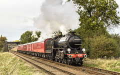 Late Post (4486Merlin) Tags: 125161264 england europe exlner greatcentralrailway heritagerailways lnerclassb1 midlands oliverbury railways steam tpotravellingpostoffice transport unitedkingdom loughborough woodthorpe gbr gcrautumnsteamgala bongo
