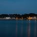 Port Blanc dans le noir