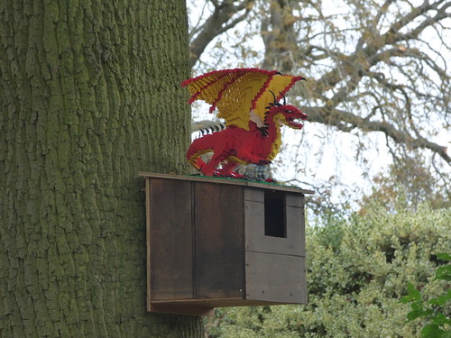 Lego Red Dragon at Castle Bromwich Hall Gardens