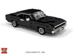 Dodge Charger R/T - 1968 - Bullitt (lego911) Tags: dodge charger rt 1968 fastback film movie chrysler coporation bullitt villain classic 1960s steve mcqueen auto car moc model miniland lego lego911 ldd render cad povray san francisco chase scene v8 afol lugnuts cars noir vars 110 th build challenge eleventh 11th birthday anniversary