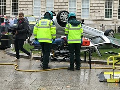 Emergency Services Road Traffic Collision Demonstration at Belfast City Hall, 16.10.2018 (John D McDonald) Tags: belfast cityhall belfastcityhall belfastcityhallgrounds donegallsquare donegallsquarenorth northernireland ni ulster geotagged iphone appleiphone iphone7plus appleiphone7plus reenactment reconstruction emergency emergencyreconstruction rta roadtrafficaccident roadtrafficcollision rtareconstruction rtcreconstruction roadtrafficaccidentreconstruction roadtrafficcollisionreconstruction emergencyservice emergencyservices emergencyservicereconstruction emergencyservicesreconstruction car renault clio renaultclio stretcher