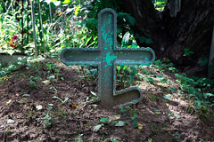 Old wooden green cross on the grave (Jess Aerons) Tags: memory cemetery grave nature cross religion faith space graveyard white wood symbolic bible old brown ancient crucifix jesus background vintage funeral plant catholic religious symbol death church concept christianity holiday christian grass memorial belief sign christ green holy simple easter hope pray stone outdoor prayer wooden spiritual god wall forest