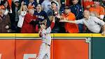 Astros' Jose Altuve ruled out after fan interferes with Mookie Betts' attempt to catch fly ball (SupremeeNews) Tags: