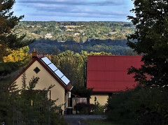 Down In The Valley! (Happy Autumn Everyone!!!) Tags: scenery houses valley ithaca cayugalakevalley sky blue clouds