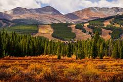 Breckenridge Autumn - Colorado (Bernie Duhamel) Tags: breckenridge colorado autumn fall fallfoliage ski 10milerange greatphotographers teamsony rockymountains bernie duhamel sonya9 sonyfe100400mm clouds mountains mountain