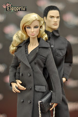 """In fashions from """"C'est Chic"""" collection (elenpriv) Tags: eugenia perrin city prowl 12inch fr2 fashionroyalty integrity toys jasonwu doll elenpriv elena peredreeva handmade dollclothes clothes black coat cestchic collection"""