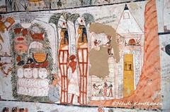 Funerary scene (konde) Tags: tt277 ameneminet 19thdynasty newkingdom tombpainting luxor ancientegypt thebes tomb hautamaalaus afterlife thebanhills stele stela coffin mummycoffin pyramid deirelmedina qurnetmurai osiris solarboat offering anubis egypti art hieratic hieroglyphs rahorakty deities divinity nefertari shrine anthropoid papyrus
