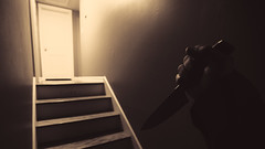 Current Mood (3rd-Rate Photography) Tags: halloween knife michaelmyers stairs door house slasher killer horror canon 1635mm jacksonville florida 3rdratephotography earlware 365
