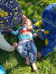 Double tickles (quinn.anya) Tags: tickle sam paul eliza baby toddler kindergartener foodfestival eatrealfoodfest