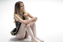 dancer 03 (Mark Rigler -) Tags: pretty cute sweet young fun girl woman dancer ballet ballerina studio white background black tutu sensuality ethereal femininity girlishness womanliness