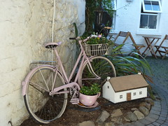 Mary & Martha's Vintage Tea Room, Ahoghill. (lorraineelizabeth59) Tags: pump cottage thatchedcottage bicycle cowtailedpump ahoghill ballymena ni northernireland countyantrim tea coffee cafe coffeeshop restaurant flowers teacup flowerdisplay