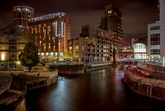 Night scene (In explore 27/10/2018) (EricMakPhotography) Tags: night river water reflection cityscape city leeds sony sonya7r