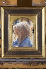 Yesterday's Painting (Apotheoun) Tags: boy towhead curls painting sunshine impressionism garth herrick