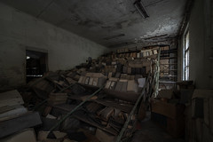 mountain of files (dersonnenritter) Tags: light decay abandoned dry dark forgotten derelict shadow old exploring urbex