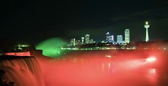 Niagara Falls night View (giri.photo2018) Tags: silky longexposure dark light lights niagarafalls newyork ny green red colors view night falls niagara usa