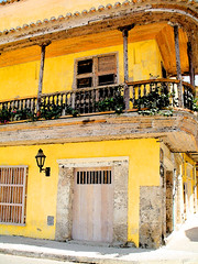 Cartagena Storefront (Jim Lipschutz) Tags: cartagena colombia spanish architecture city exterior historic old travel yellow