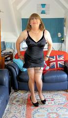 Just a slip of a thing (Trixy Deans) Tags: c slips crossdresser tgirl transgendered tv transvestite trixy deans tgirls bodycon high heels xdresser sexy legs tight dress stockings