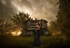 Don't Be Afraid ({jessica drossin}) Tags: jessicadrossin halloween spooky creepy dark haunted house country rural nebraska sky wwwjessicadrossincom portrait