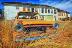 The School Of Auto Abandonment (Ian Sane) Tags: ian sane images theschoolofautoabandonment abandoned old car school grass valley central oregon sherman county rural architecture landscape photography history canon eos 5ds r camera ef1740mm f4l usm lens