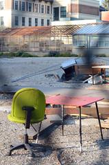 outdoor office (Wolfgang Binder) Tags: chair table desk office outdoor city nikon d7000 zeiss planar planart1450 wien vienna guessedvienna