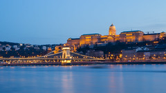 Buda Castle at blue hour (HansPermana) Tags: budapest buda budacastle parliament danube donau river water bluehour longexposure lights architecture city cityscape citycenter landmark ungarn hungary magyar eu europe europa april 2018 frühling spring