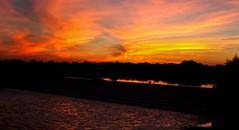 Sunset (Hedgeman2006) Tags: clouds dusk england goldenhour nottingham nottinghamshire reflection rivertrent river sunset unitedkingdom water waves