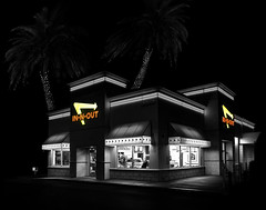 024693763982-106-IN-N-OUT Burger-2-Selective Color (Jim There's things half in shadow and in light) Tags: fastfood innout lasvegas logo nevada night tamron2470mmf28divcusdg2 usa building lights sign
