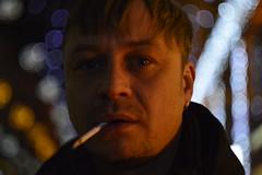 _DSC5107 (Aris_Totel) Tags: light lights shing blinke man male smoke city bokeh bulb