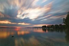 Pole Houses at Lake Constance (_Daniel Kane_) Tags: canoneosm5 tokina1116mmf28atxprodxii lakeconstance sunset dramaticsky darktable longexposure tripod wide ultrawide