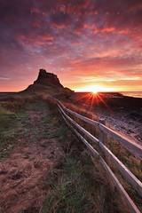 Blessed (Stu Patterson) Tags: stu patterson sunrise northumberland holy island lindisfarne castle