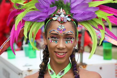 jolly rancher (Chuck Diesel) Tags: miamicarnival2018 masquerader costume people parade greeneyes smile pretty