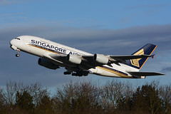 9V-SKF Airbus A380-841 EGLL 29-12-15 (MarkP51) Tags: london heathrow airport lhr egll england airliner aircraft airplane plane image markp51 nikon d7100 sunshine sunny aviationphotography 9vskf airbus a380841 singaporeairlines sq sia