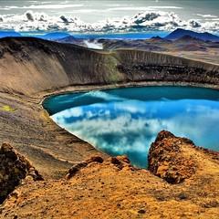 "Iceland | Volcano ""Krafla"" (Photography by Eric Hentze) Tags: mountain berg sky volancokrafla landscape blue wasser water vulkan nikond7100 nikon outdoor island natur travel erichentze 2018 iceland volcano krafla flickrtravelaward"