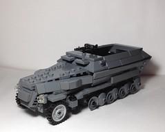 SdKfz 251 by armorbrick (Философ Александр Дугин) Tags: sdkfz 251 hanomag mg 34 brickarms lego ww2 brickmania armorbrick wehrmacht german moc custom blitzkrieg