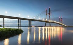 Cầu Cao Lãnh (@CuongDo) Tags: blue bridge yellow cầu light longexposure long river sony sonya7mark2 sundown sunrise sunlight ilcea7m2 vietnam reflect reflections