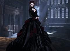 Mila Blauvelt (Mila Blauvelt) Tags: milablauvelt blogger model avatar virtual secondlife shopping sl style halloween mesh meshavatar classicavatar gown bodymesh appliers designers lamufashion dress dressfashion dressmesh