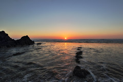 Sandymouth Sunset (Mark Wasteney) Tags: sunset sea seaside seascape water ocean rocks beach westcountry cornwall kernow sandymouth hdr