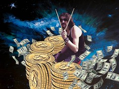 """Money - Nick Mason"" (Marooned.Collage) Tags: photoshop psychedelic pinkfloyd artwork art collage collageart collageartworks collageartist collagesociety contemporaryart mixedmedia surrealism surreal space sky stars money"