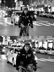 [La Mia Città][Pedala] (Urca) Tags: milano italia 2018 bicicletta pedalare ciclista bike bicycle nikondigitale scéta ritrattostradale portrait dittico biancoenero blackandwhite bn bw 115855