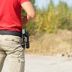 Man in Red T-Shirt At The Shooting Range thumbnail