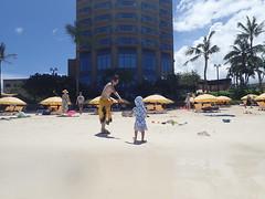 (imnOthere0) Tags: parent mom bikini child children beach guam tumon vacation