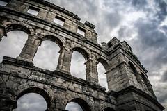 Pulska Arena (Roger_T) Tags: 2018 canon5dmarkiv architektur dramaticsky amphitheatre canonef2470mmf28liiusm colosseo architecture pula canon romans kroatien croatia