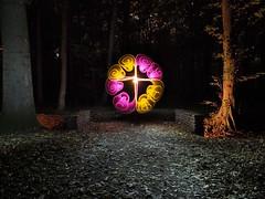 Swirly Disk (Stefan Stepko) Tags: lichtkunst lightpainting lightart forest handmade hannover germany autumn night stepko stepkoart swirly disk